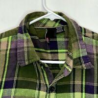 Element Mens Flannel Shirt Multicolor Plaid Large