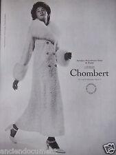 PUBLICITÉ 1971 ASTRAKAN BREITSCHWANZ BLANC DE RUSSIE CRÉATION CHOMBERT - AD