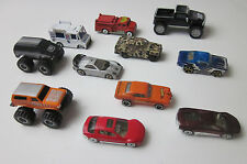 LOT OF 11 VINTAGE TOY SOME HOT WHEEL DIECAST CARS AND TRUCKS