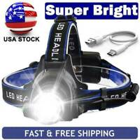 Rechargeable Tactical 350000LM T6 LED Headlamp 1*8650 Headlight Head Torch Lamps