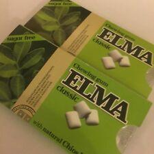 2 x 10Pcs gomma da masticare ELMA CLASSICA CON MASTICE di CHIO naturale senza zucchero, GRATIS P&P