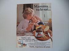 advertising Pubblicità 1982 NUTELLA FERRERO