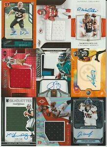 LOT (27) NFL Football Panini Brand Game-Used Jersey RPA Rookie Patch AUTO RC /25