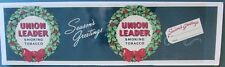 OLD UNUSED LABEL FOR UNION LEADER SMOKING TOBACCO CAN * CHRISTMAS EDITION AD29