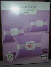2 Wilton Purple Pillowbox Party Favor Boxes 100 Total Wedding, Birthday Anytime!
