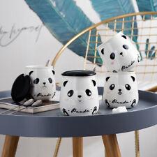 """""""Cute Panda"""" Ceramic Mug Cup with Lid Spoon Tea Milk Coffee Cup Kids Drinkware"""