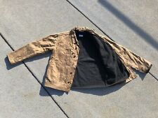 2012 Apolis Standard Issue USMC Waxed Cotton Jacket Wool Liner Large Tan