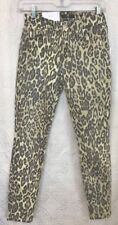 7 For All Mankind Jean Animal Print The Ankle Skinny NWT $199  Size 24