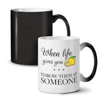 Life Lemon Throw NEW Colour Changing Tea Coffee Mug 11 oz | Wellcoda
