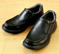 Clarks Men's Soft Cushion with Ortholite Slip on Black Leather Loafer Shoe UK 6H