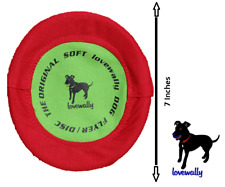"Soft Bite Floppy Disc Dog Toy 7"" Small Flyer USA Brand LoveWally"