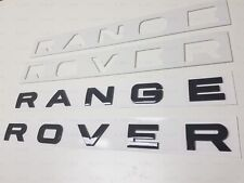 1PC New Range Rover Gloss Black LETTERS HOOD TRUNK TAILGATE EMBLEM BADGE