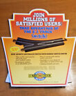 Bachmann HO Scale E-Z Track Switch In-Store Cardboard Easel-Back Display Ad Sign