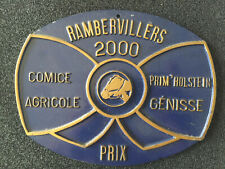 PLAQUE COMICE AGRICOLE RAMBERVILLERS 2000PRIX GENICE PRIM'HOLSTEIN AGRICULTURE