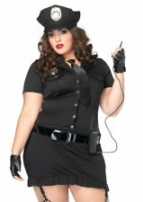 Leg Avenue Women's 6 Piece Dirty Cop Includes Dress Gloves Walkie-Talkie Sexy 3X