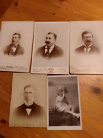 Antique Cabinet Card Photos (4) -  Various Location Plus Post Card Photo England