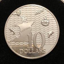 Trinidad And Tobago 1977 10 Dollar BRILLIANT PROOF SILVER COIN