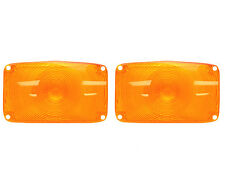 "1956 Chevrolet Full Size Bel Air Parking Lamp Light Lenses ""Amber"" Pair - L4104"