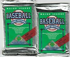 New listing 1990 Upper Deck Baseball 2 Unopened Packs Of MLB Trading Cards