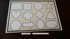 SHAPE FORMATION BOARD - LEARN HOW TO DRAW SHAPES - PEN CONTROL & USE - SEN EYFS