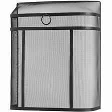Fire Screen large Black steel mesh Fire Spark guard contemporary 54cm wide