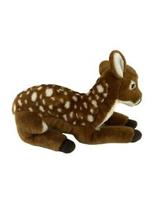 """FAO Schwarz Toys R Us Spotted Deer Fawn Plush 18"""" Long Stuffed Animal Realistic"""