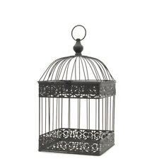 Cage à Oiseaux Carré Marron Décorative Fer 47 cm x 24 cm x 24 cm