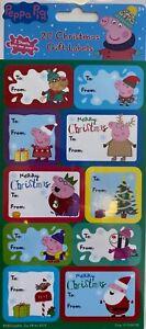 PEPPA PIG Christmas Gift Labels x 20
