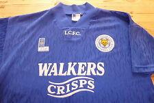 Leicester City 1992-1994 Fox Ocio Fútbol Balonpié Camiseta Casaca Top Grande