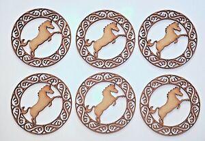 Wooden MDF Blank shape - Scottish Unicorn in Celtic circle - set of 6 items