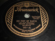 Frank and James McCravy: Six Feet Of Earth / De's Bones Gwine 78 - Brunswick 193