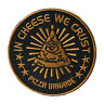Pizza Brigade Iron On Patch In Cheese We Trust Embroidered Sew On Junk Food