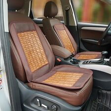 1x Summer Cooling Bamboo Car Seat Cover Full Set Back Support Waist Massage