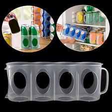 Storage Bottle Jar Kitchen Organization Fridge Beer Soda Can Plastic Rack Holder