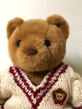 """Early Build-A-Bear 10"""" Soft Brown Teddy Plush, Retired,1997 Vintage w Sweater"""