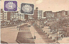JUDAICA ISRAEL 2 TO PAY STAMPS PC LETTER FROM BELGIUM TO ISRAEL IN HEBREW 1956