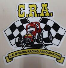 Vintage 70's CRA Sprint Car California Racing Association Decal Sticker IMCA