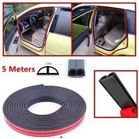 New Rubber 5M B-shape Seal Strip Weatherstrip Car Door Edge Trim Strips Hollow