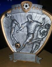 """Soccer Trophy/ Plaque 7.75"""" tall x 7.5"""" wide, with personalized engraved plate"""