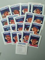 1988 California Angels Starting Lineup Talking, 20 Card Baseball Set