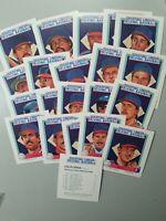 1988 California Angels Starting Lineup Talking, 20 Card Baseball Set