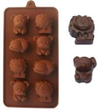 Hippo Lion Bear Silicone Chocolate Cake Cookie Mould BakingTray Bakeware Mold LD