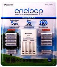 Panasonic Eneloop Rechargeable Batteries NiMH 8-AA 4-AAA + Battery Charger, NIMH
