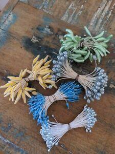 ♡Alte Staubblätter Staubgefäße Staubfäden Blütenstempel bunter Mix 5 Pakete♡