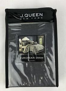 J. Queen Miranda Pillow Sham Euro 26 X 26 In Gray New