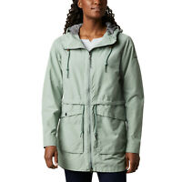 Columbia Women's West Bluff Hooded Mid Length Jacket, Green, Size XL, $110, NwT