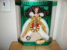 Happy Holidays Barbie 1994 BRUNETTE LE WW 540 TEDDY BEAR CONVENTION HTF RARE