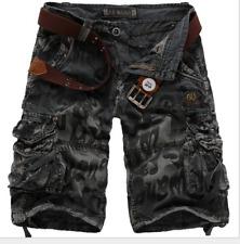 Sommer Herren Cargo Shorts Jeans Kurze Hose Sport Shorts Freizeit Bermudas Hosen