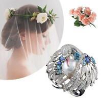 Mode Frauen Weinlese Perle 925 Silber Blauer Topas Vogel Tier Ring Größe 6 10