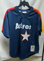 Nolan Ryan Houston Astros Mitchell & Ness Jersey Size Large 44 Navy Blue